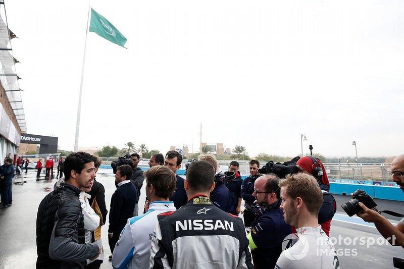Lucas Di Grassi, Audi Sport ABT Schaeffler, Antonio Felix da Costa, BMW I Andretti Motorsports, Sébastien Buemi, Nissan e.Dams, Sam Bird, Envision Virgin Racing