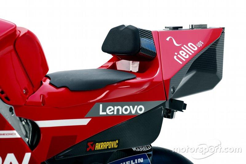 Detalles de la Ducati Desmosedici GP19