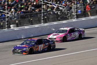 Denny Hamlin, Joe Gibbs Racing, Toyota Camry FedEx Office and Matt DiBenedetto, Go FAS Racing, Ford Fusion Plan B Sales