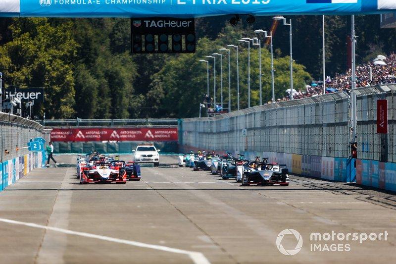 Start zum ePrix Santiago der Formel E 2018/19: Sébastien Buemi, Nissan e.Dams, Nissan IMO1, führt