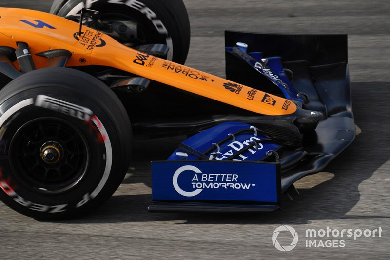 McLaren MCL34, morro y alerón delantero