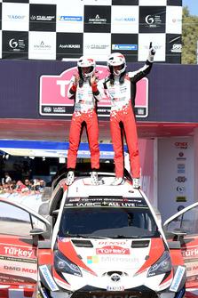 Race Winner Ott Tänak, Martin Järveoja, Toyota Gazoo Racing