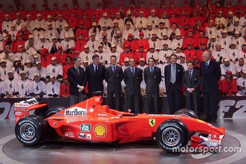 Ferrari F2001 lansmanı, Maranello