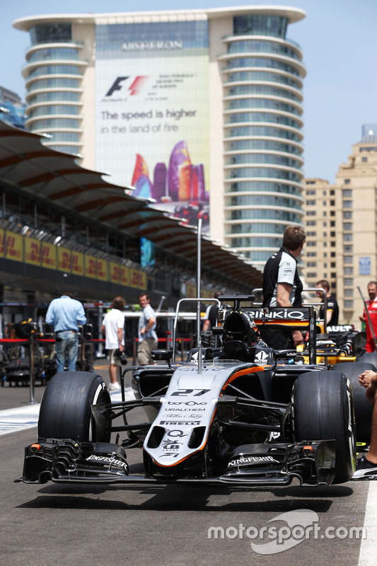 Sahara Force India F1 VJM09 Ніко Хюлькенберга, Sahara Force India F1 in the pits