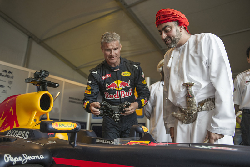 David Coulthard, Red Bull Racing durante uno show run in Oman