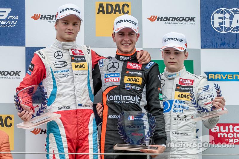 rookie, Podium, Ralf Aron, Prema Powerteam Dallara F312 - Mercedes-Benz, Anthoine Hubert, Van Amersf