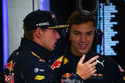(L to R): Max Verstappen, Red Bull Racing with Pierre Gasly, Red Bull Racing Third Driver