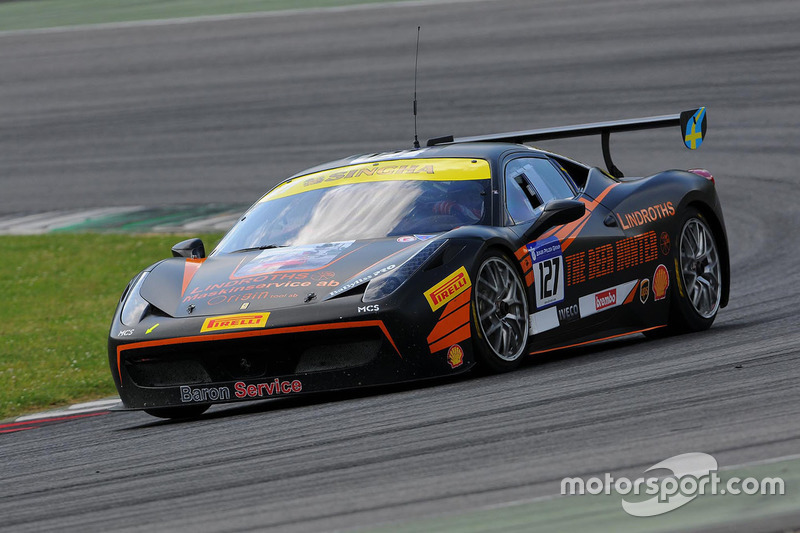 #127 Baron Service, Ferrari 458: Tommy Lindroth