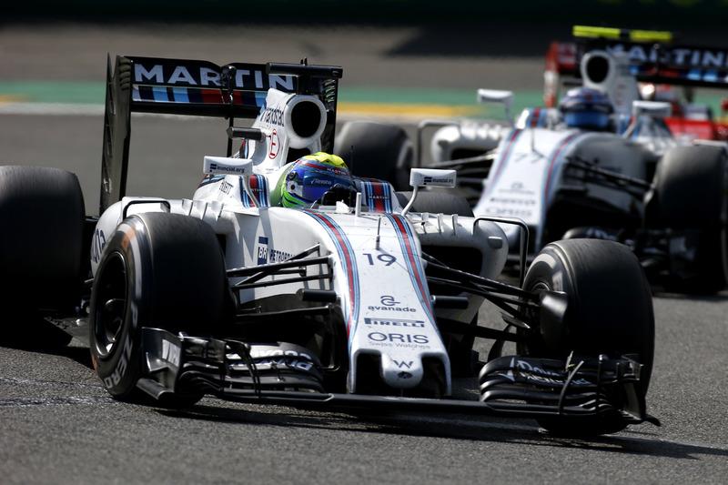 Felipe Massa, Williams FW38 Mercedes y Valtteri Bottas, Williams FW38 Mercedes