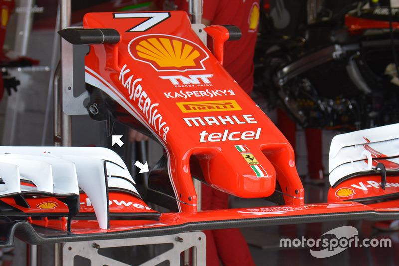 Ferrari SF16-H: il muso tradizionale