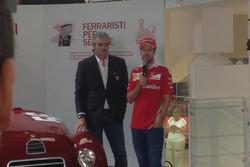 Maurizio Arrivabene, Team Principal Scuderia Ferrari e Sebasitan Vettel