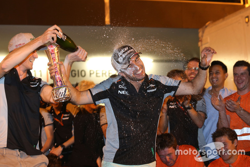 Nico Hulkenberg, Sahara Force India and Sergio Perez, Sahara Force India