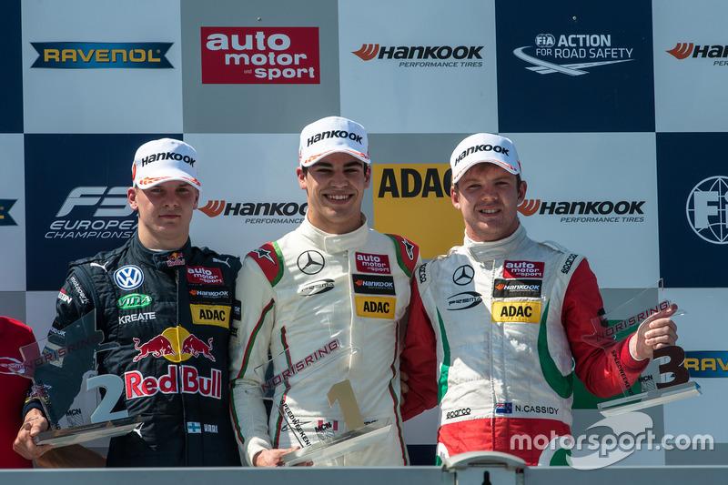Podyum: Niko Kari, Motopark Dallara F312 - Volkswagen, Lance Stroll, Prema Powerteam Dallara F312 -