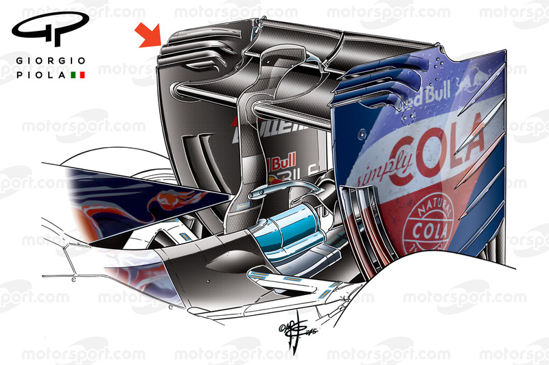 Toro Rosso STR11 rear wing Barcelona