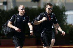 Valtteri Bottas, Mercedes AMG F1 with his trainer Antti Vierula