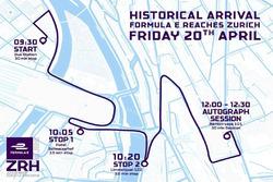 Carte du road show de Sébastien Buemi à Zurich