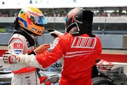 Lewis Hamilton, McLaren and Kimi Raikkonen, Ferrari