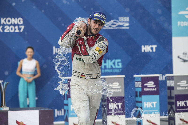 Podium: race winner Daniel Abt, Audi Sport ABT Schaeffler