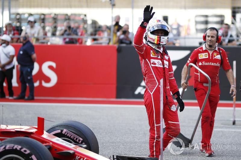 Tercer clasificado Sebastian Vettel, Ferrari SF70H