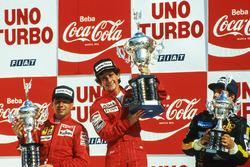Podyum: Yarış galibi Alain Prost, McLaren, 2. Michele Alboreto, Ferrari, 3. Elio De Angelis, Lotus