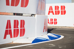 ABB logos on the track