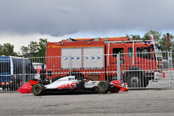 El coche de Romain Grosjean, Haas F1 Team VF-18