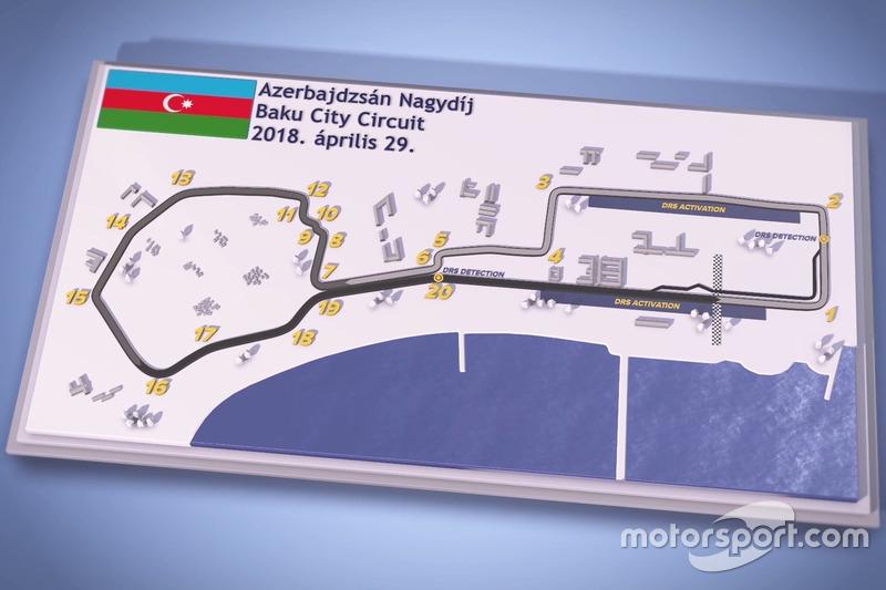 Forma-1 Magyar F1-es pályabemutató videó Bakuból