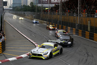 Edoardo Mortara, Mercedes-AMG Team Driving Academy, Mercedes - AMG GT3 leads at the Restart