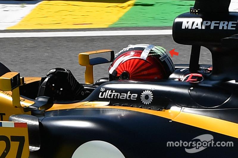 Nico Hulkenberg, Renault RS17: Helm