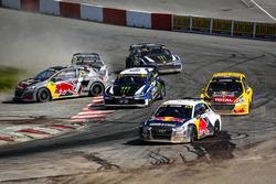 Mattias Ekström, EKS Audi Sport, Johan Kristoffersson, PSRX Volkswagen Sweden, Timmy Hansen, Team Peugeot Total