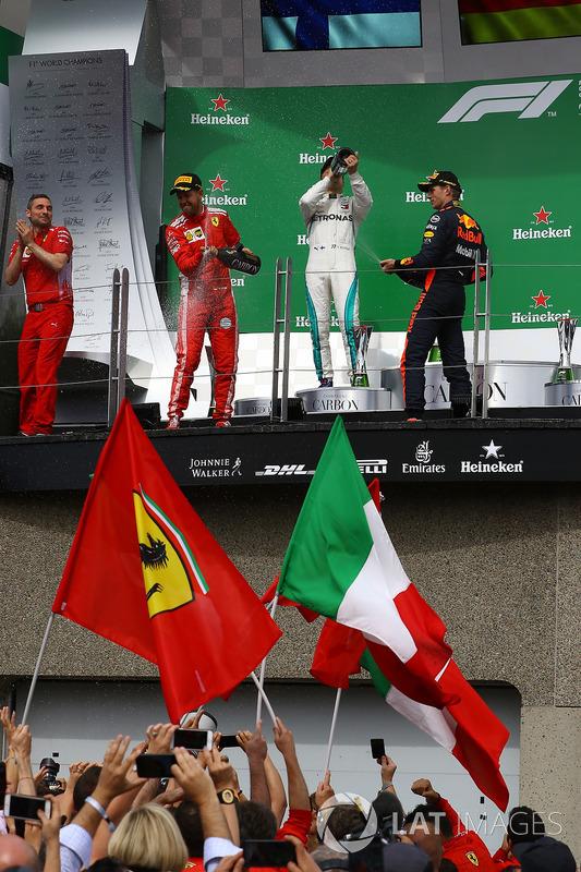 Festeggiamenti sul podio