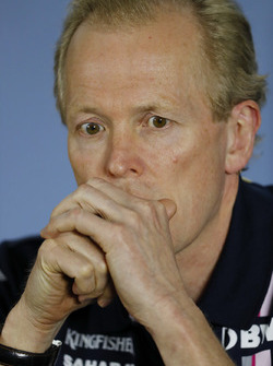 Andrew Green, Technical Director, Force India, in the Press Conference