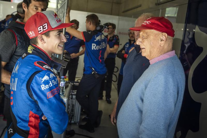 Marc Márquez y Niki Lauda