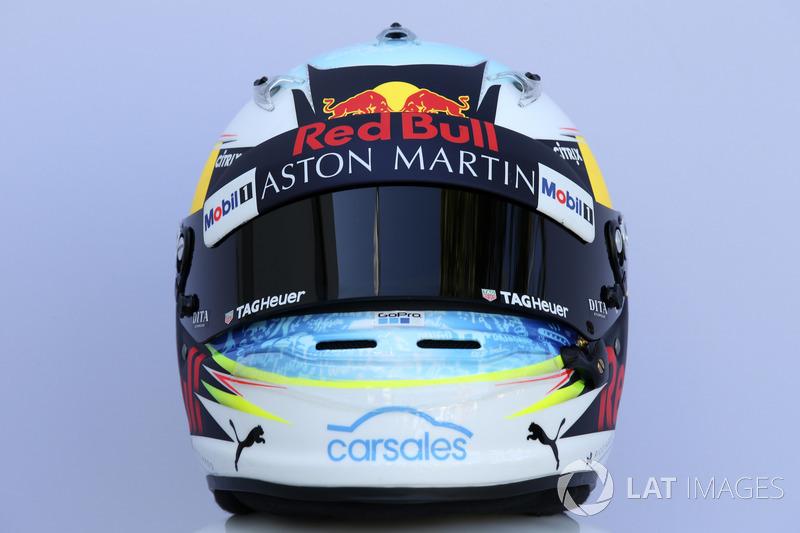 Casco de Daniel Ricciardo, Red Bull Racing