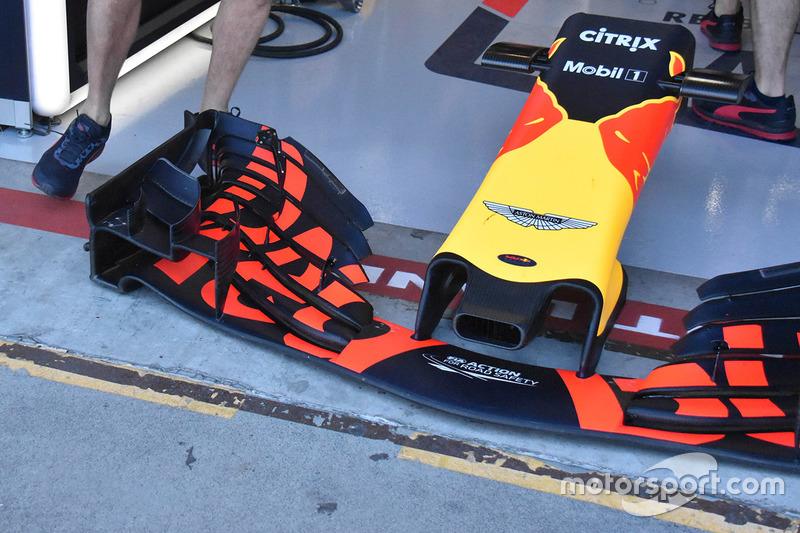 L'aileron avant de la Red Bull Racing RB14