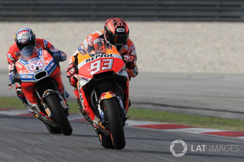 Марк Маркес, Repsol Honda Team, и Андреа Довициозо, Ducati Team