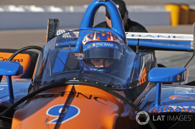 Scott Dixon, Chip Ganassi Racing Honda prueba el aeroscreen