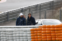 Esteban Ocon, Force India, watches the track