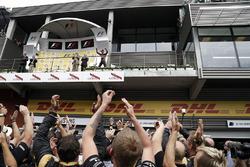 Podio: tercero Romain Grosjean, Lotus F1 Team