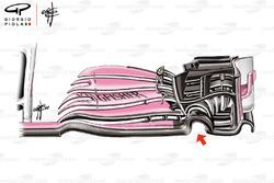 Force India VJM11 ön kanat detayı