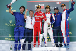 Podium: race winner Pedro Piquet, Trident, second place Giuliano Alesi, Trident, third place Ryan Tveter, Trident