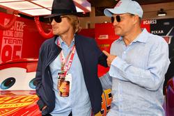 Woody Harrelson, Actor and Owen Wilson, Actor in the cars 3 garage