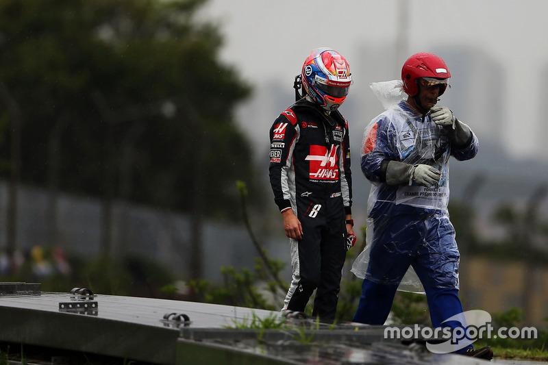 Grosjean no pudo ni comenzar el gran premio