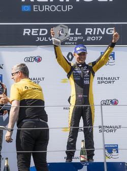 Podium: race winner Max Fewtrell, Tech 1 Racing
