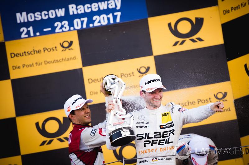 Подіум: Маттіас Екстрьом, Audi Sport Team Abt Sportsline, Audi A5 DTM та Маро Енгель, Mercedes-AMG Team HWA, Mercedes-AMG C63 DTM