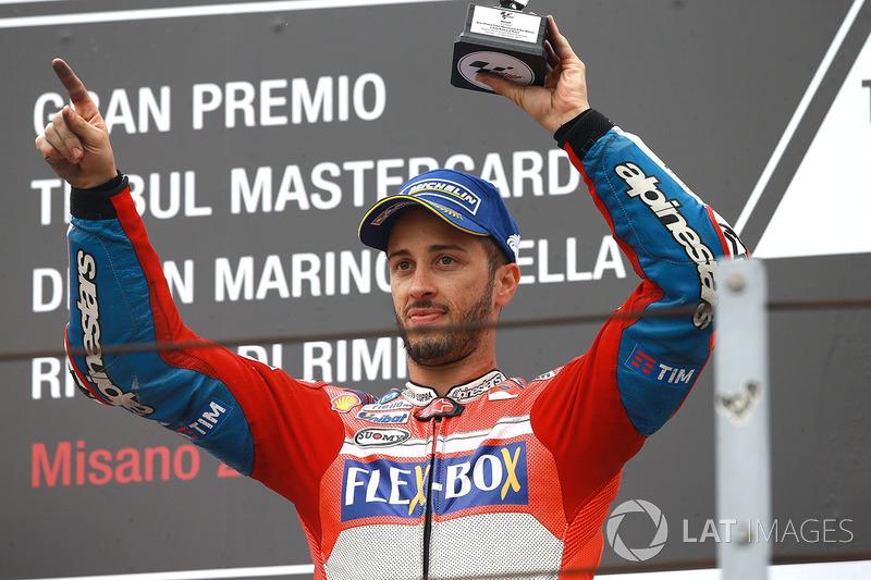 Podium: third place Andrea Dovizioso, Ducati Team