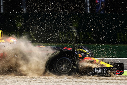 Max Verstappen, Red Bull Racing RB13, in the gravel