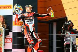Podium: ganador carrera Chaz Davies, Ducati Team