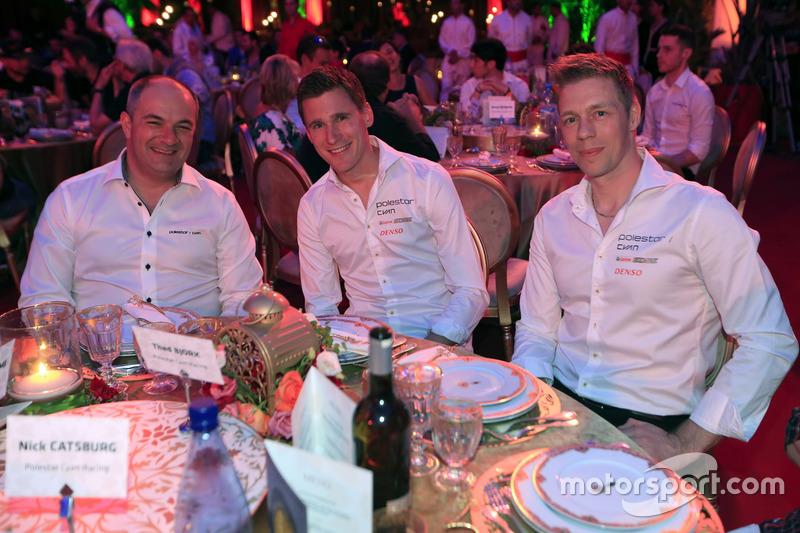 Fredrik Wahlen, Polestar Cyan Racing, Teammanager; Nicky Catsburg, Thed Björk, Polestar Cyan Racing, Volvo S60 Polestar TC1
