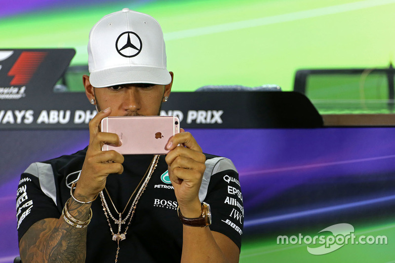 Lewis Hamilton, Mercedes AMG F1 during the press conference